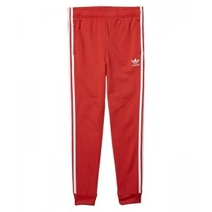 adidas Originals Kids Superstar Pants (Little Kidsu002FBig Kids) Lush Red/White