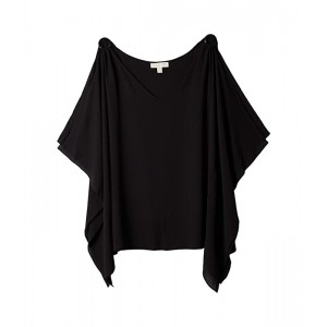 Plus Size Ring Shoulder Scarf Top