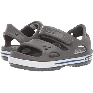 Crocs Kids Crocband II Sandal (Toddleru002FLittle Kid) Slate Grey/Blue Jean