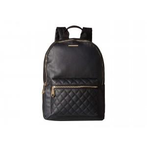 Quilted Pocket Backpack Black