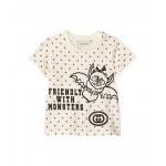 Cotton Jersey w/ Bat Print T-Shirt (Infant)
