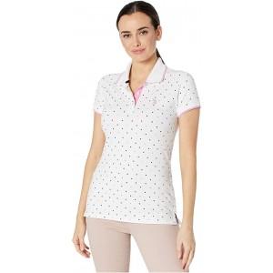 U.S. POLO ASSN. Dot Print Polo Shirt Optic White