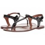 T-Strap Sandal Black Patent Leather