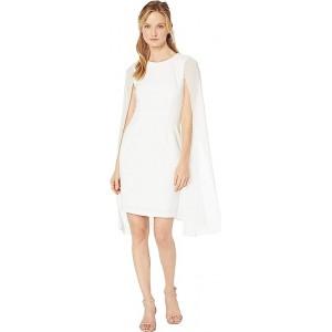 Sheath Dress w/ Chiffon Cape