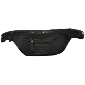 Patch Nylon Body Bag Black
