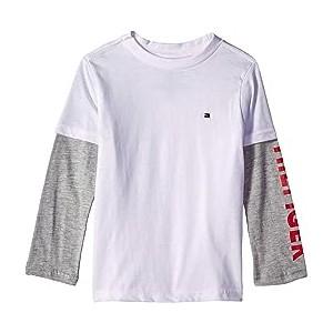 Long Sleeve Crew Neck Shirt (Toddler/Little Kids) White