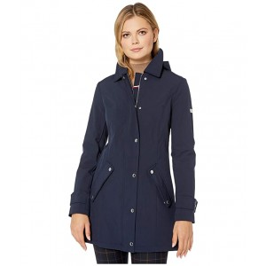 33 Lady Like Softshell Button Placket Navy