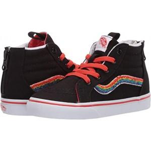 Vans Kids Sk8-Hi Zip (Infantu002FToddler) Chenille Rainbow/True White