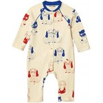 Minibaby All Over Printed Long Sleeve Jumpsuit (Infant)