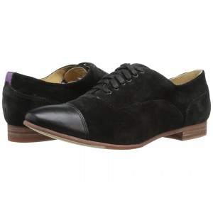 Hutton Cap Toe Black Suede