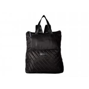 New Tack Diagonal Quilt Backpack Black