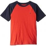 Solid Crew Neck Raglan Tee Shirt (Big Kids)