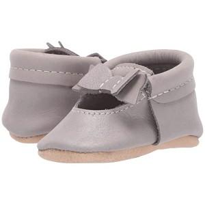 Dreamy Ballet Flat Bow Mocc (Infant/Toddler) Silver/Brown