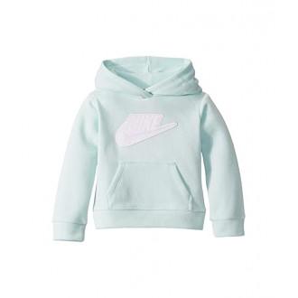 Nike Kids Sueded Fleece Iridescent Logo Pullover Hoodie (Toddler) Teal Tint