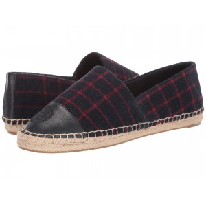 Color Block Flat Espadrille Checked Wool/Tory Navy