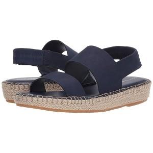 Cole Haan Cloudfeel Espadrille Sandal Marine Blue Nubuck/Natural Jute/Gum