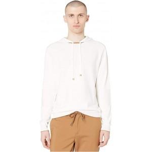 eleventy Pullover Hoodie wu002F Horizontal Ribbed Stripes White/Camel