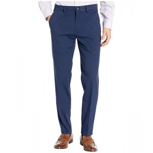 Four-Way Stretch Solid Twill Slim Fit Flat Front Chino