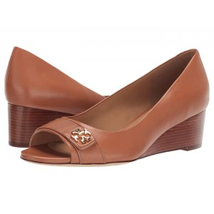 45 mm Kira Open Toe Wedge Tan/Tan