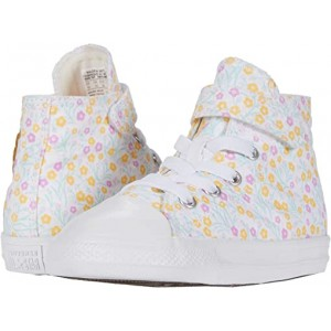 Converse Kids Chuck Taylor All Star 1V Floral (Infantu002FToddler) White/Topaz Gold/Peony Pink