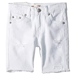 Schools Out 511 Slim Fit Denim Shorts (Big Kids) White