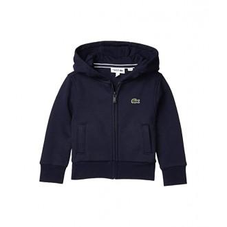 Lacoste Kids Sport Hoodie Fleece (Toddleru002FLittle Kidsu002FBig Kids) Navy Blue/Navy Blue