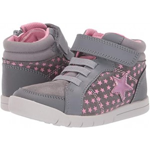 Clarks Kids Emery Beat (Toddler) Grey Leather