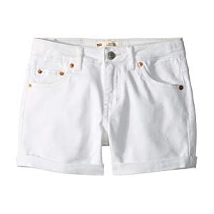 High-Rise Denim Shorty Shorts (Big Kids)