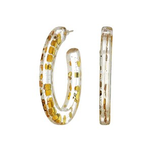 Stella Party Resin Hoop Earrings
