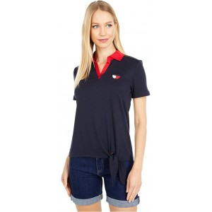Tommy Hilfiger Short Sleeve Polo with Tie Sky Captain Multi
