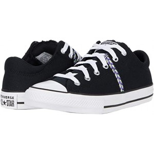 Converse Kids Chuck Taylor All Star Madison Friendship Bracelet - Ox (Little Kidu002FBig Kid) Black/Moonstone Violet/White