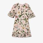 Dolce & Gabbana Kids Lily Print Cady Dress with Ruches (Big Kids) Gigli Rosa