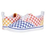 Vans Kids Era Elastic Lace (Infantu002FToddler) Tri Checkerboard Multi/True White