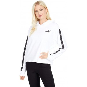 PUMA Amplified Terry Cropped Hoodie PUMA White