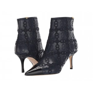 65 mm Penelope Embroidered Bootie Ink Navy/Perfect Black