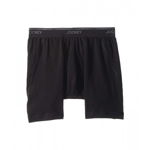 Jockey Essential Fit Max Stretch Boxer Brief 3-Pack Black