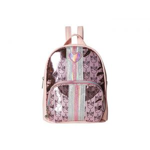 Hologram Unicorn Icon Print Mini Backpack Pink