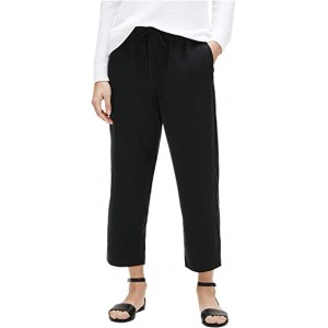 Slouchy Cropped Pants Black