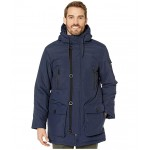 Faux Down Parka Navy
