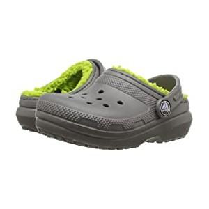 Classic Lined Clog (Toddler/Little Kid) Slate Grey/Volt Green