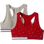 2-Pack Heart Flag Crop Bra (Little Kids/Big Kids)
