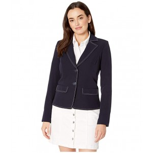 Picstitched Two-Button Jacket Midnight