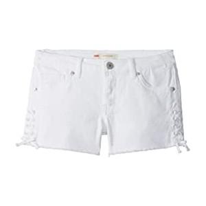 Lace-Up Denim Shorty Shorts (Big Kids)