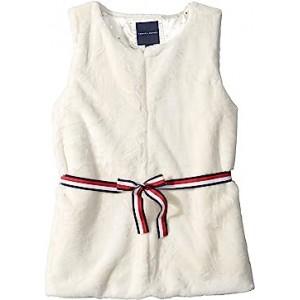 Fur Vest with Signature Belt (Big Kids) Egret