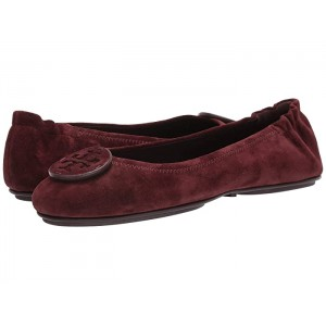 Minnie Travel Ballet with Leather Logo Black Cherry/Black Cherry