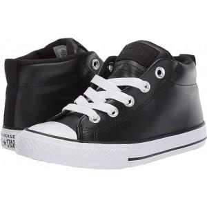 Converse Kids Chuck Taylor All Star Street - Mid (Little Kidu002FBig Kid) Black/Black/White