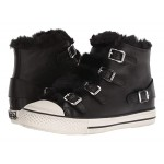 ASH Valko Nappa Wax Black/Eco Fur Black