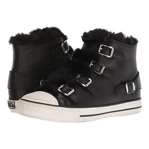 ASH Nappa Wax Black/Eco Fur Black