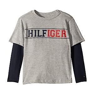 Long Sleeve Crew Neck Shirt (Toddler/Little Kids) Medium Grey