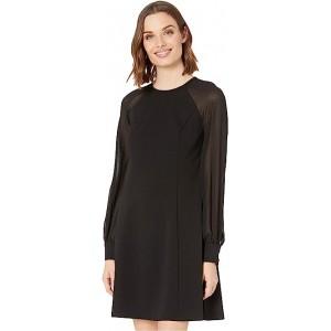 Chiffon Sleeve A-Line Dress
